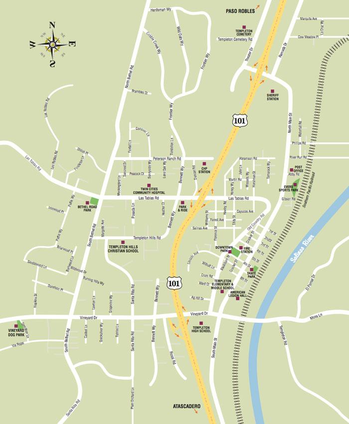 Templeton Map