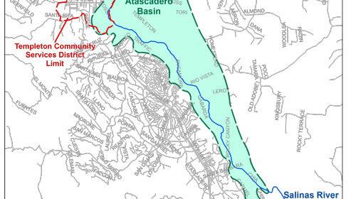 Atascadero Basin map
