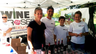 Booth at Wine & Roses Ride