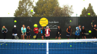 Templeton Tennis Ranch players on court