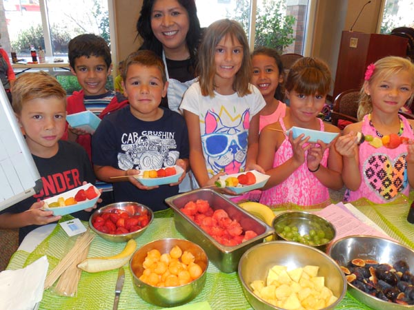 "The Wellness Kitchen encourages kids to, ""eat a rainbow."""