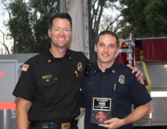 Trevor Aguilar recognized as Templeton Firefighter of the Year