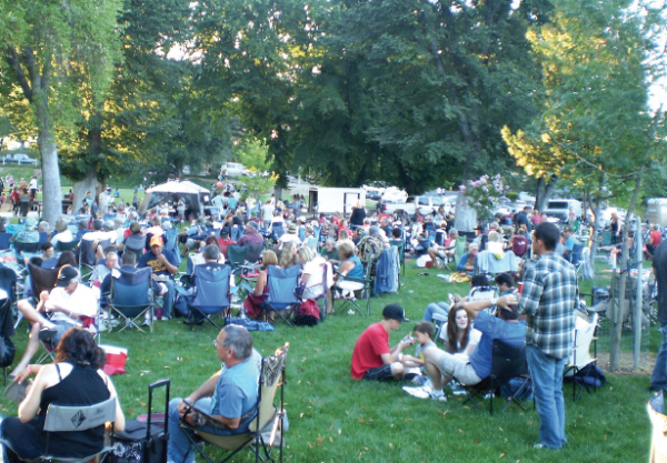 people attending local concert