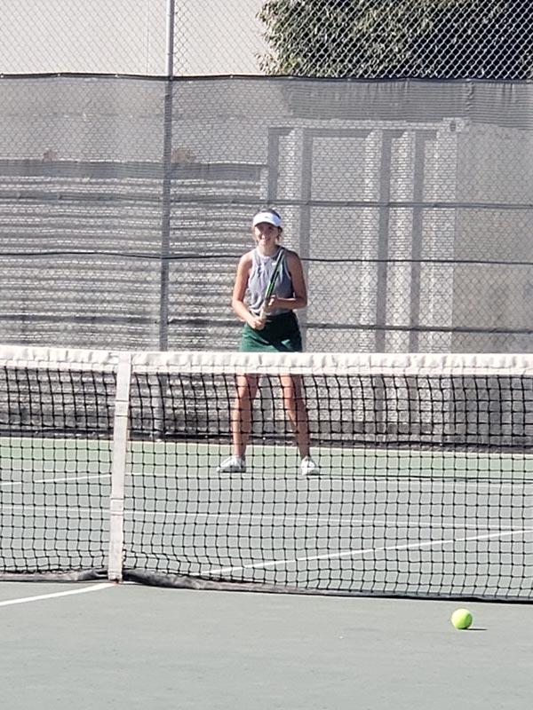 Audrey Krupa on the tennis court.
